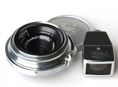 Carl Zeiss Jena 2.8cm Tessar lens and viewfinder for contax rangefinder