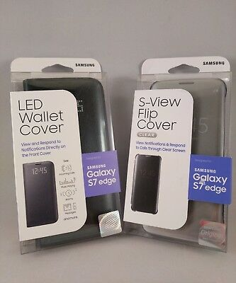 Samsung (LED Wallet Cover-SView Flip Cover) For Samsung Galaxy S7 edge