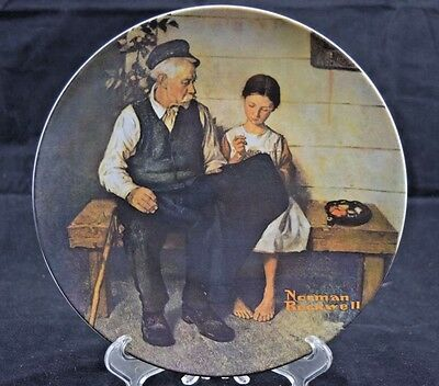 """Knowles """"The Lighthouse Keepers Daughter"""" Norman Rockwell Collectible Plate L46"""