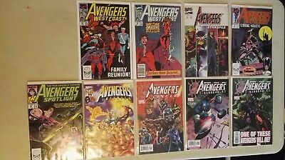Marvel Comics AVENGERS Mixed lot of 9 comics bagged and boarded NM condition