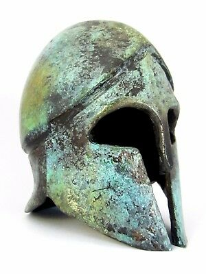 Ancient Corinthian Bronze Helmet Greek Museum Replica (1378)