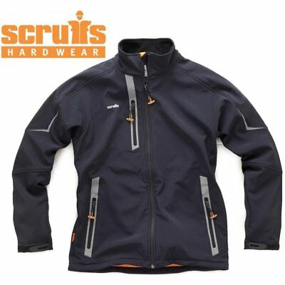 Scruffs Pro Softshell Black Jacket (Sizes S-XXL) Waterproof Technical Work Coat