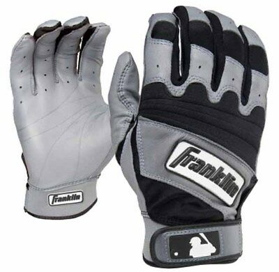 Franklin The Natural II Youth Batting Gloves - Gray/Black