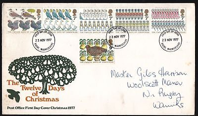 FDC - G.B. 1977 The Twelve Days Of Christmas - First Day Cover