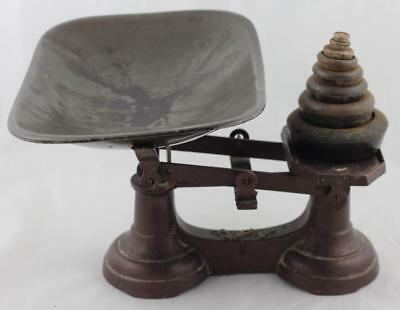 VINTAGE GROCER'S SCALES with Set of Weights.