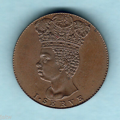 Barbados. 1792 Halfpenny.. Proof (Restrike)