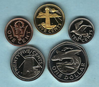 Barbados. 1976 : 1,5,10,25 Cents & 1 Dollar..  All Proof