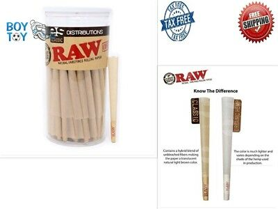 Raw Classic King Size Pure Hemp Pre Rolled Cones Weed Smoking Filter 100 Pack