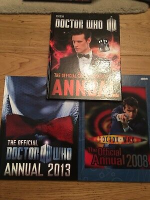 Dr Who Annuals x 3 = 2008 - 2013  And 50th Anniversary Annual