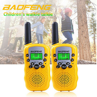 2x BAOFENG BF-T3 Yellow Walkie Talkie 2 Way 0.5W radio 400-470MHZ FRS/GMRS 22CH