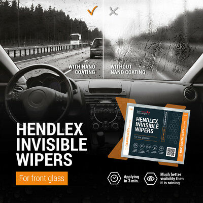 Hendlex Rain Repellent X Glass Treatment Clear View Invisible Windshield Wipers