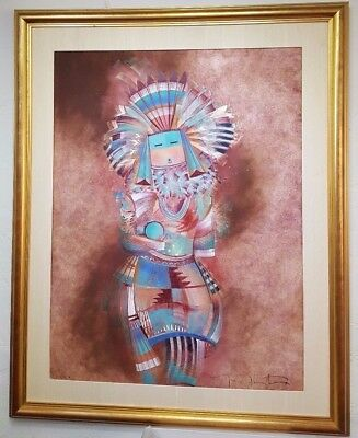 """Original Tony Abeyta painting in 1998 image 30"""" x 39"""" framed and matted"""