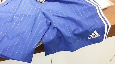 Chelsea Adidas Football Shorts - With Zip Pockets - Large - Blue&white-New!