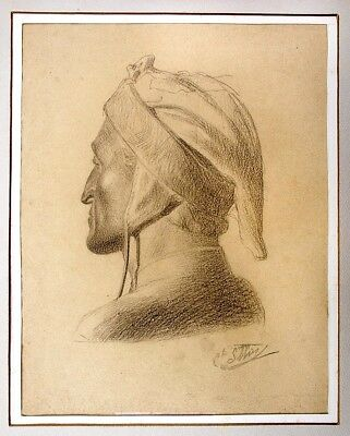 Charles Sellier DANTE CHARCOAL estate of artist stamp Collection JBE Corbin 1852