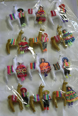 Made In Peru New Peruvian Alpaca Pins With Traditional Dressed Andean Farmer