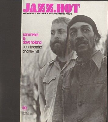 JAZZ HOT 321 Sam Rivers DAVE HOLLAND Benny Carter ANDREW HILL Dizzy Gillespie