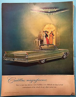 "Vintage 1962 Cadillac Convertible Advertisement- - 10 1/2""x13 1/2"""
