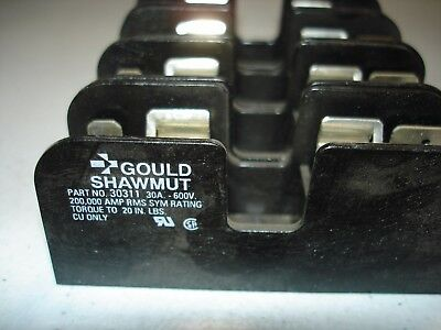 *LOT* (4) Gould Shawmut 30311 Fuse Holder 30A 600V  *NEW*