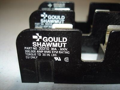 *LOT*(3) Gould Shawmut 30310 Fuse Holder 30A 600V  *NEW*