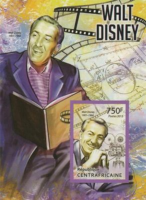 Walt Disney Republique Centrafricaine 2013 Mnh Imperforated Stamp Sheetlet