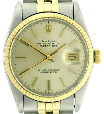 Rolex Oyster Perpetual Datejust Automatik Ref. 16013 in Stahl/Gold Ø 36mm