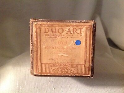 """(X)Beethoven Sonata Opus 31 #3 """"duo Art"""" Vintage Piano Roll In Excellent Cond"""