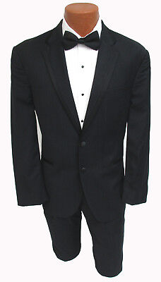 Black Calvin Klein Concord Tuxedo with Pants & Optional Vest Wedding Prom Mason
