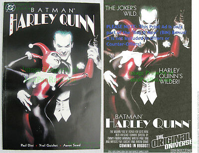 VHTF 1st Print BATMAN HARLEY QUINN ONE-SHOT Alex Ross JOKER Excellent +BIN BONUS