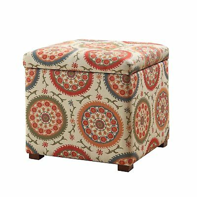 Outstanding Kinfine Large Upholstered Round Tufted Storage Ottoman With Theyellowbook Wood Chair Design Ideas Theyellowbookinfo