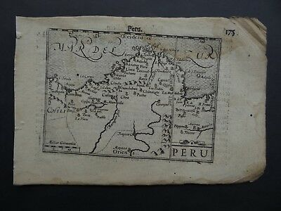 c1600 Langenes Atlas map  PERU