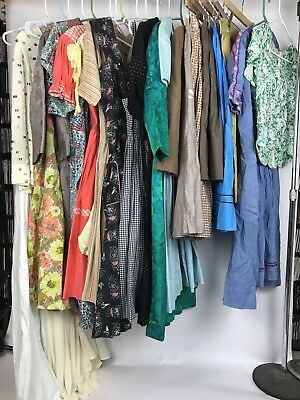 Lot of 21 1950s 1960s Vintage Dresses Skirts Suits Prints Repair Resell TLC