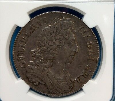 Great Britain England Silver Crown 1696 William III Old Date Coin PCGS XF