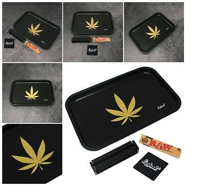 Rolling Tray Bundle King Size Raw Rolling Papers 110mm Rolling Machine Black