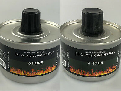 Heat Chafing Dish Fuel Re-usable High Quality -Choose 4hr or 6hr Burn & quantity