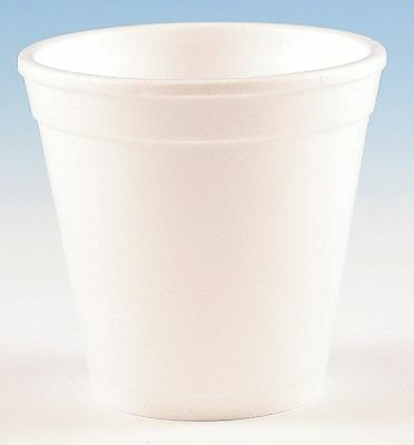 Wincup 4 oz. Disposable Cold/Hot Cup, Foam, White, PK 1000 - 4C4W