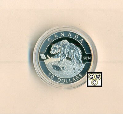 2014 'Grizzly Bear - O Canada' Proof $10 Silver Coin .9999 Fine(NT)(13838)(OOAK)