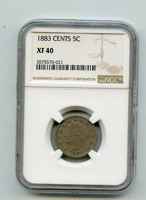1883 CENTS Liberty Head Nickel (XF40) NGC
