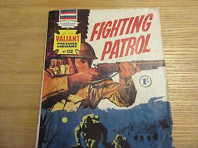 "1969. VALIANT Picture Library War Comic #138. ""Fighting Patrol"""