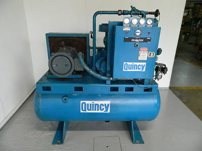 20 Hp Quincy Rotary Screw Air Compressor Model Qst 20 Anni T2. 70 Cfm @ 125 Psi