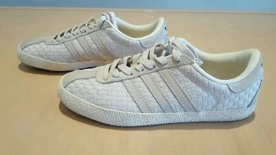 💛 Adidas Woven Style Off White Sneakers ~size 6.5/240 cm