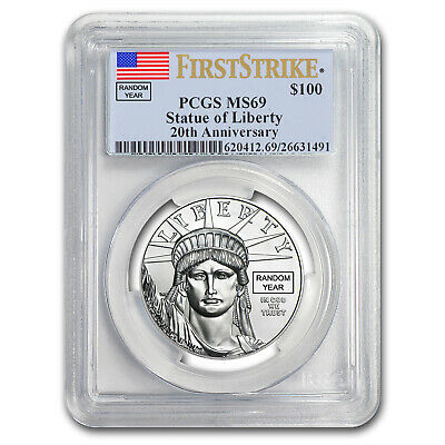 1 oz Platinum American Eagle MS-69 PCGS (Random Year) - SKU #150216