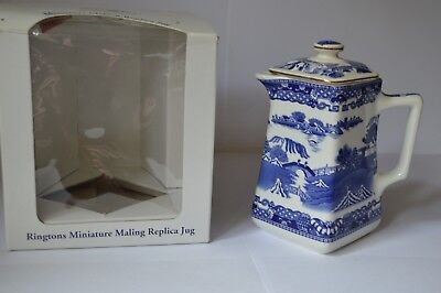 Ringtons Square Maling Replica Jug Blue Willow