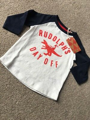 Next Baby Boys Rudolph's Day Off Dinosaur Raglan T-shirt Top 6-9 Months
