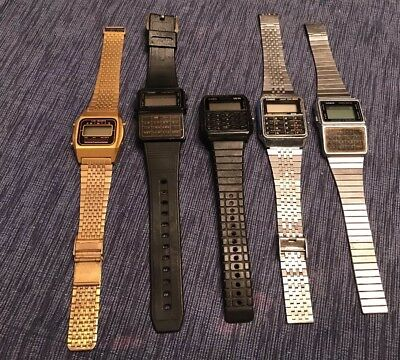 Huge Lot Of Vintage Electronic Casio Data Watches