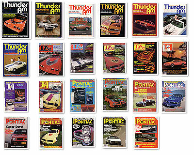 Thunder Am Magazine Pontiac Firebird Trans Am 1969 1970 1973 1977 1978 1979 NOS