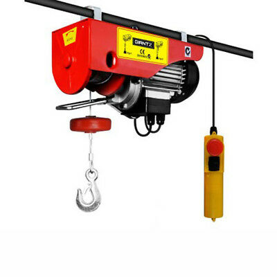 GIANTZ Electric Hoist Winch 300-600KG 1200W-Rope Lift Tool Remote Chain Lift NEW