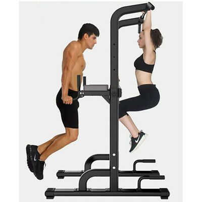 Power Tower Gym Dip Station Home Multi Chin Pull Push Up Bar Workout Exercise