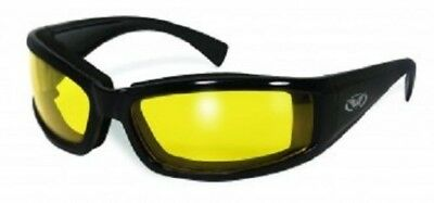 Global Vision Stray Cat Motorcycle Glasses (Black Frame/Yellow Lens)
