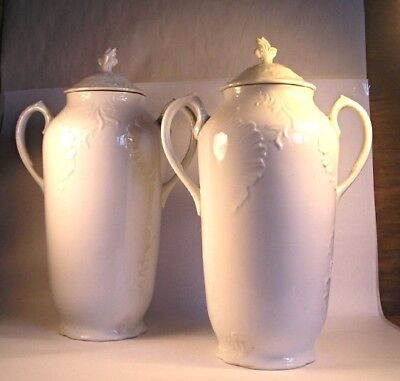 A Pair of Antique Ironstone Urns T32