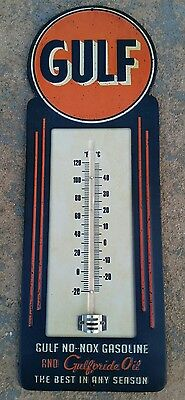 "Gulf Motor oil Thermometer 15.5"" x 5.5"" NIB NICE LOOK"